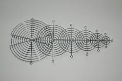 Ventilatorgitter (B x H) 60 mm x 60 mm Metal 1 stk