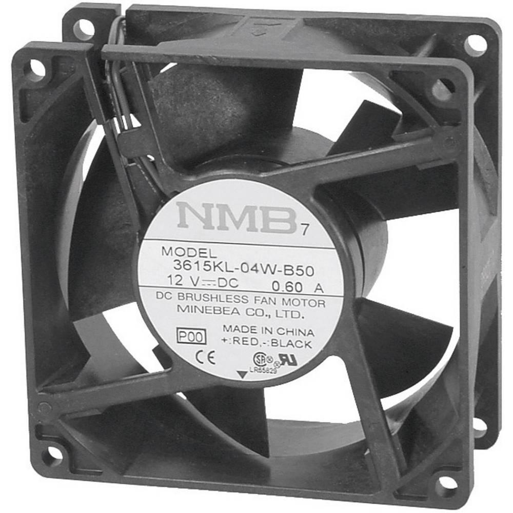 Aksial ventilator 12 V/DC 93 m³/h (L x B x H) 92 x 92 x 25 mm NMB Minebea 3610KL-04W-B50-P00
