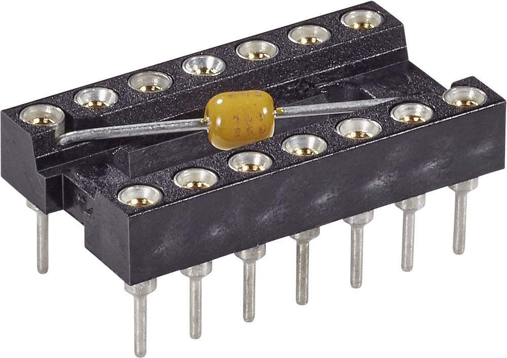 IC podnožje 7.62 mm št. polov: 24 MPE Garry MPQ 24.3 STG B 100 nFU natančni kontakti, s kondenzatorjem 1 kos