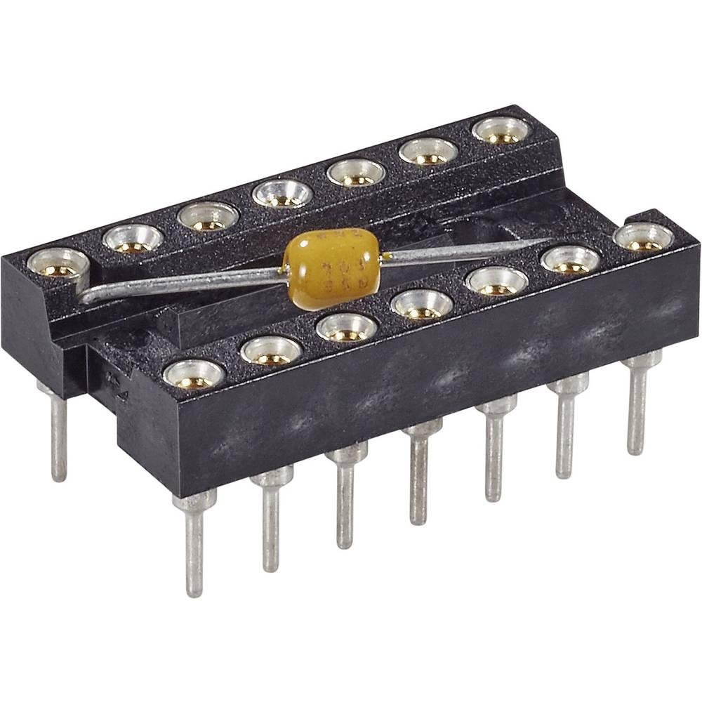 IC podnožje 7.62 mm št. polov: 8 MPE Garry MPQ 08.3 STG B 100 nFU natančni kontakti, s kondenzatorjem 1 kos