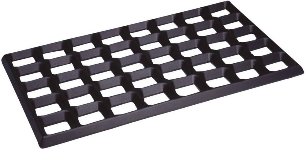 ESD rešetkasta montažna podloga, črne barve (D x Š x V) 610 x 370 x 20 mm BJZ C-187 625