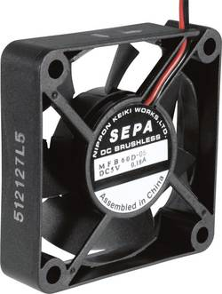 Aksial ventilator 12 V/DC 25.2 m³/h (L x B x H) 60 x 60 x 15 mm SEPA MFB60D12