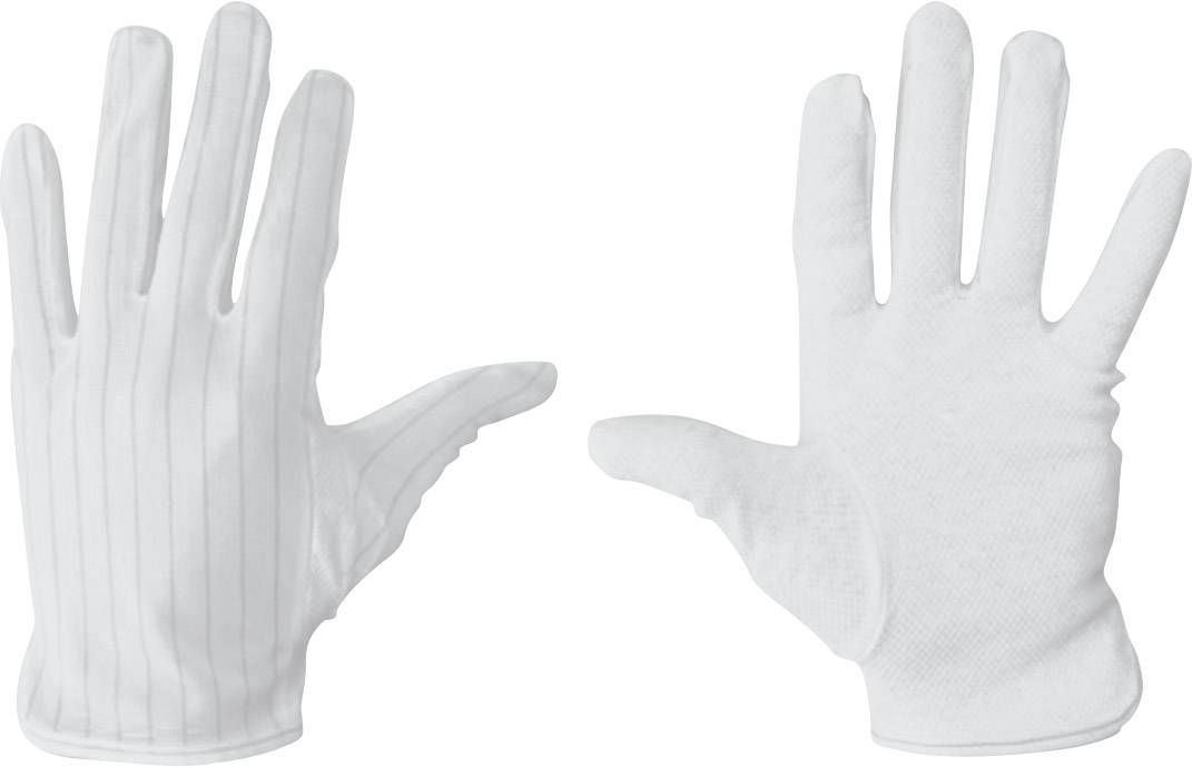 Polyester Glove Full White Size M ESD