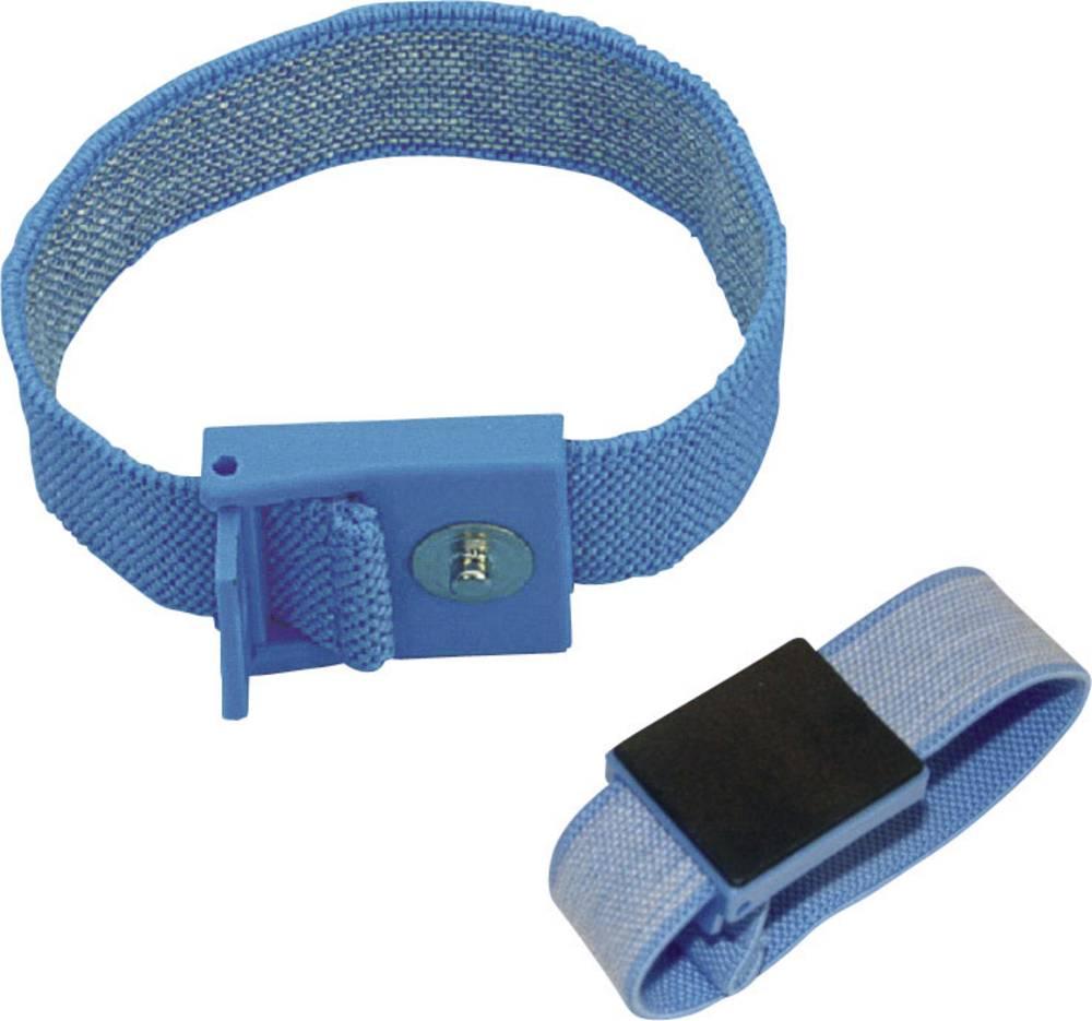 ESD zapestni trak, svetlo modre barve BJZ C-198 1261 pritisni gumb 4 mm