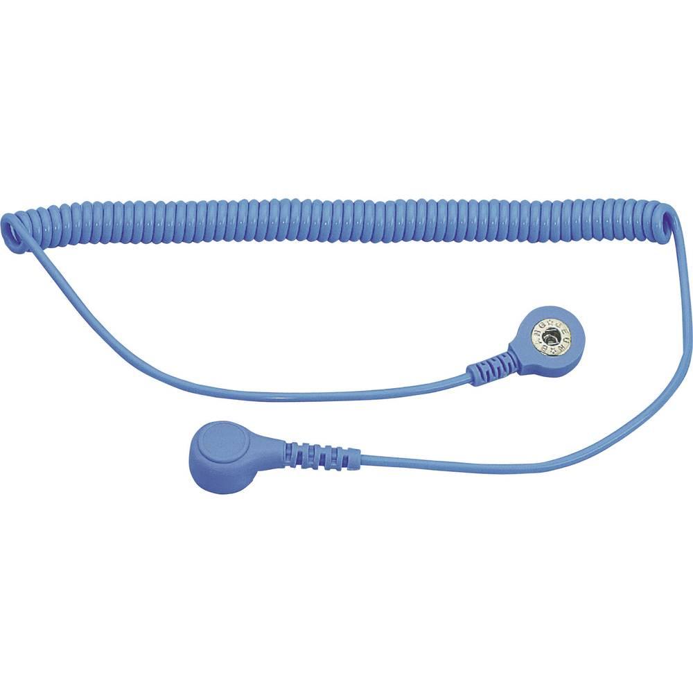 ESD ozemljitveni kabel 1.80 m BJZ C-198 1263 pritisni gumb 4 mm, pritisni gumb 10.3 mm