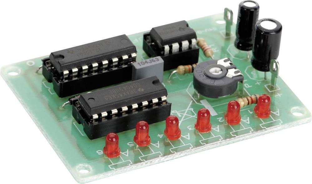Conrad 6-kanalni modul z led-svetlobnimi diodami Komplet za sestavljanje 6 - 15 V/DC