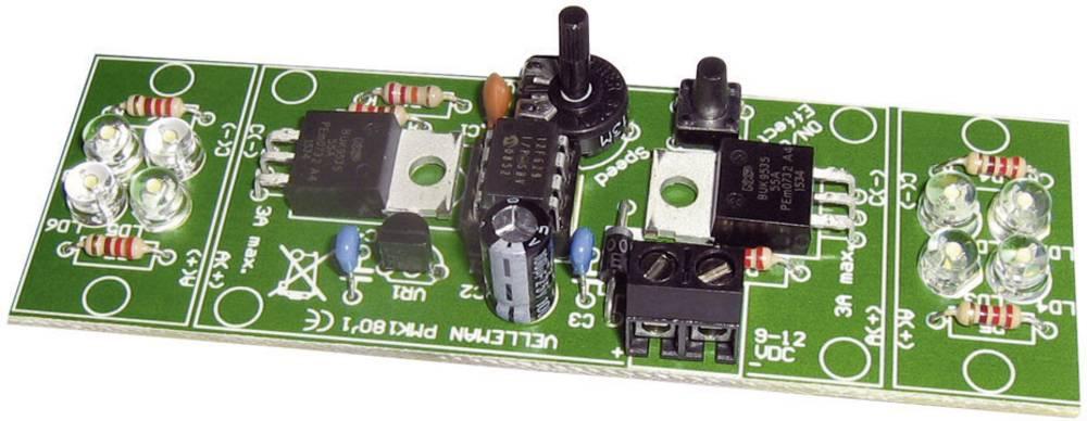 Velleman 2-kanalna visokonaponska LED bljeskalica MK180, komplet za slaganje 12 V/DC