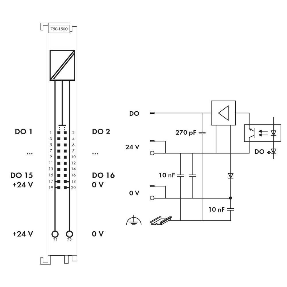 PLC output card WAGO 750-1500 24 Vdc from Conrad.com