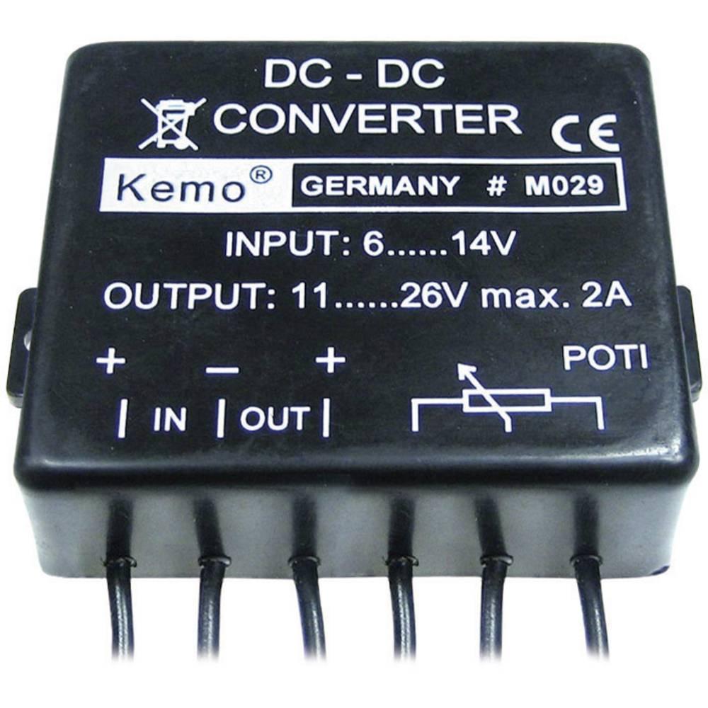 Pretvornik napetosti - modul Kemo vhodna napetost: 14 - 6 V/DC izhodna napetost: 11 - 26 V/DC