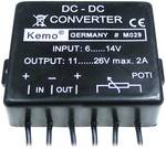Kemo Voltage transformer Component Input voltage (range): 6 - 14 V DC Output voltage (range): 11 - 26 V DC