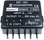 Kemo Voltage transformer Component Input voltage (range): 6 - 14 V DC Output voltage (range): 11 - 26 V DC 2 A