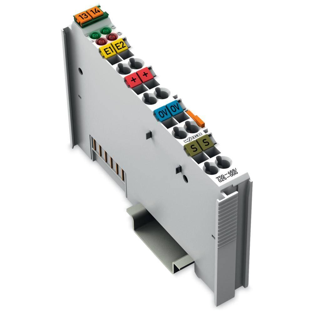 WAGO 2-kanalna-analogna vhodna spona 750-466/025-000 prek sistemske napetosti / DC vsebuje: 1 kos