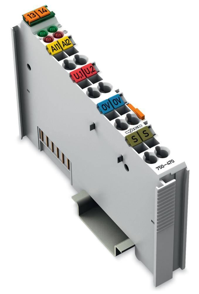 WAGO 2-kanalna-analogna vhodna spona 750-470 prek sistemske napetosti / DC vsebuje: 1 kos