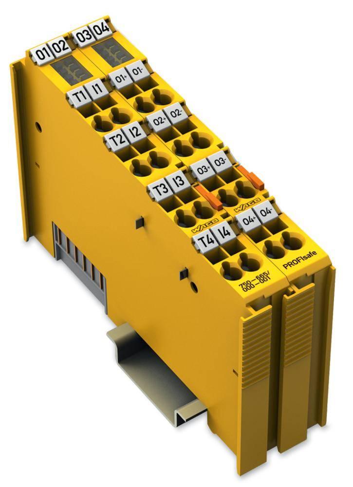 WAGO 4-kanalna-digitalna vhodna in izhodna spona PROFIsafe 750-665/000-001 24 V/DC vsebuje: 1 kos