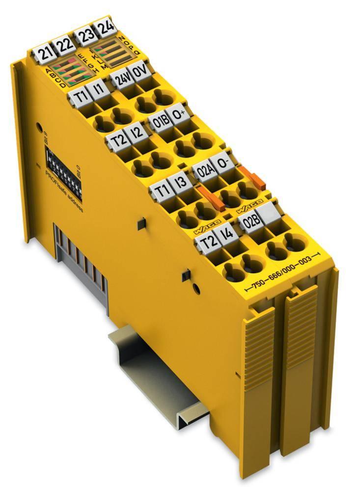WAGO varnostna 4-kanalna-digitalna vhodna- in 2-kanalna-digitalna izhodna spona PROFIsafe V2 iPar 750-666/000-003 24 V/DC vsebuj