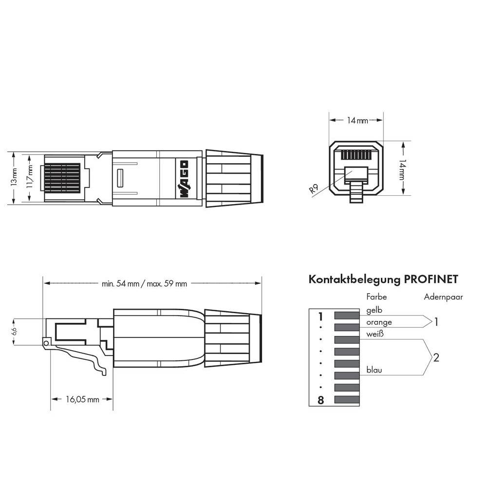 PLC connector WAGO 750-976 PROFINET RJ-45, ...