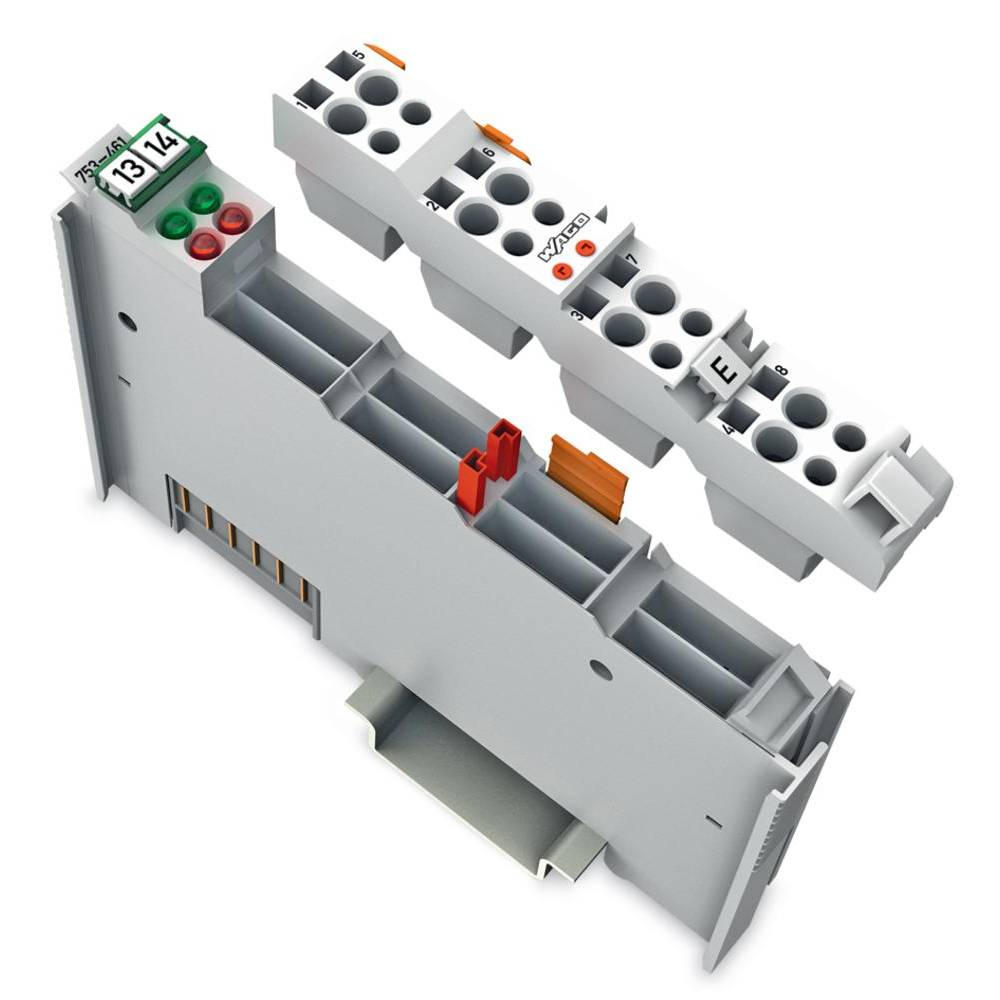 WAGO 2-kanalna-analogna vhodna spona 753-461 prek sistemske napetosti / DC vsebuje: 1 kos
