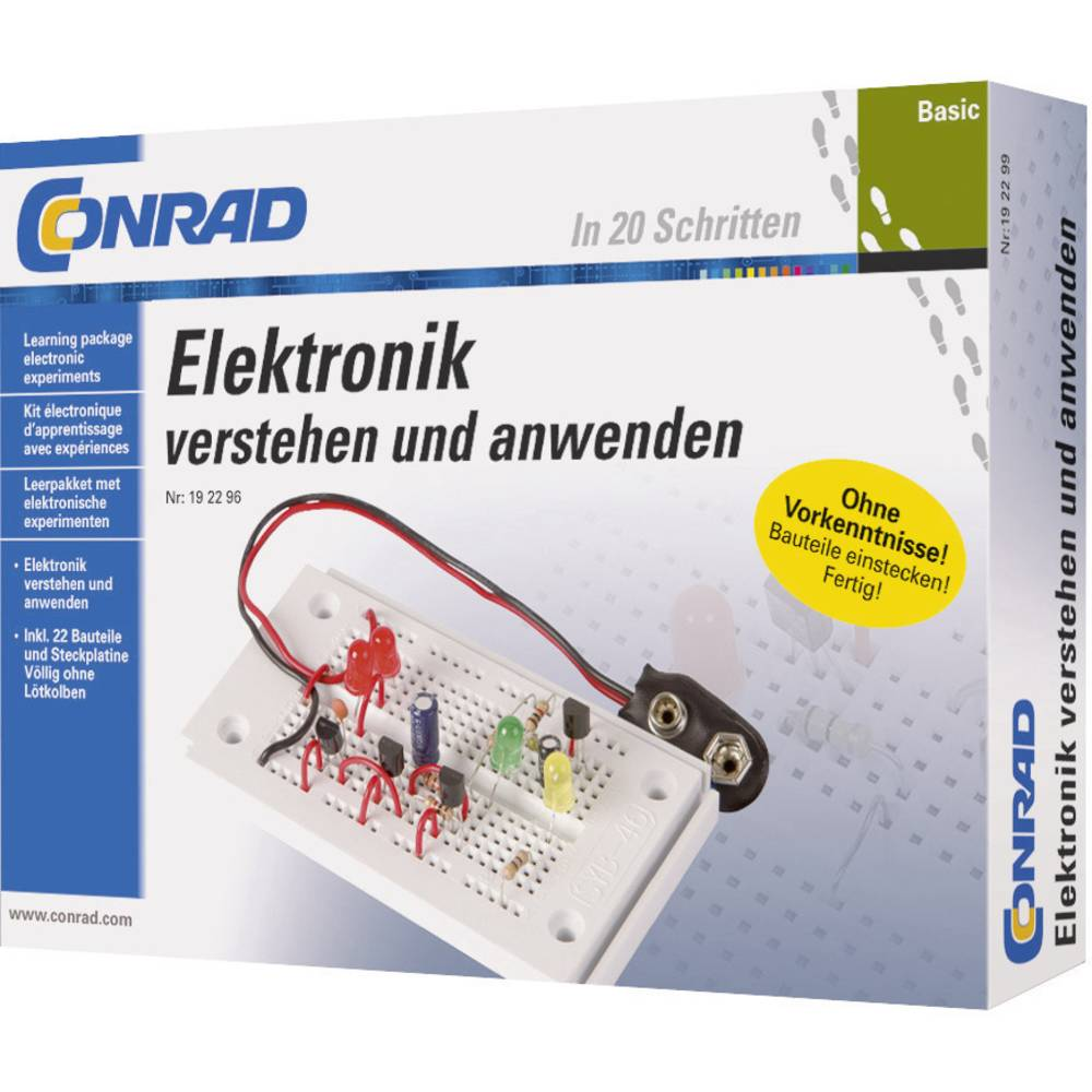 Course Material Conrad Components Basic Elektronik 3964 14 Years And Making A Stripboard Circuit Building Soldering Led Flasher Over