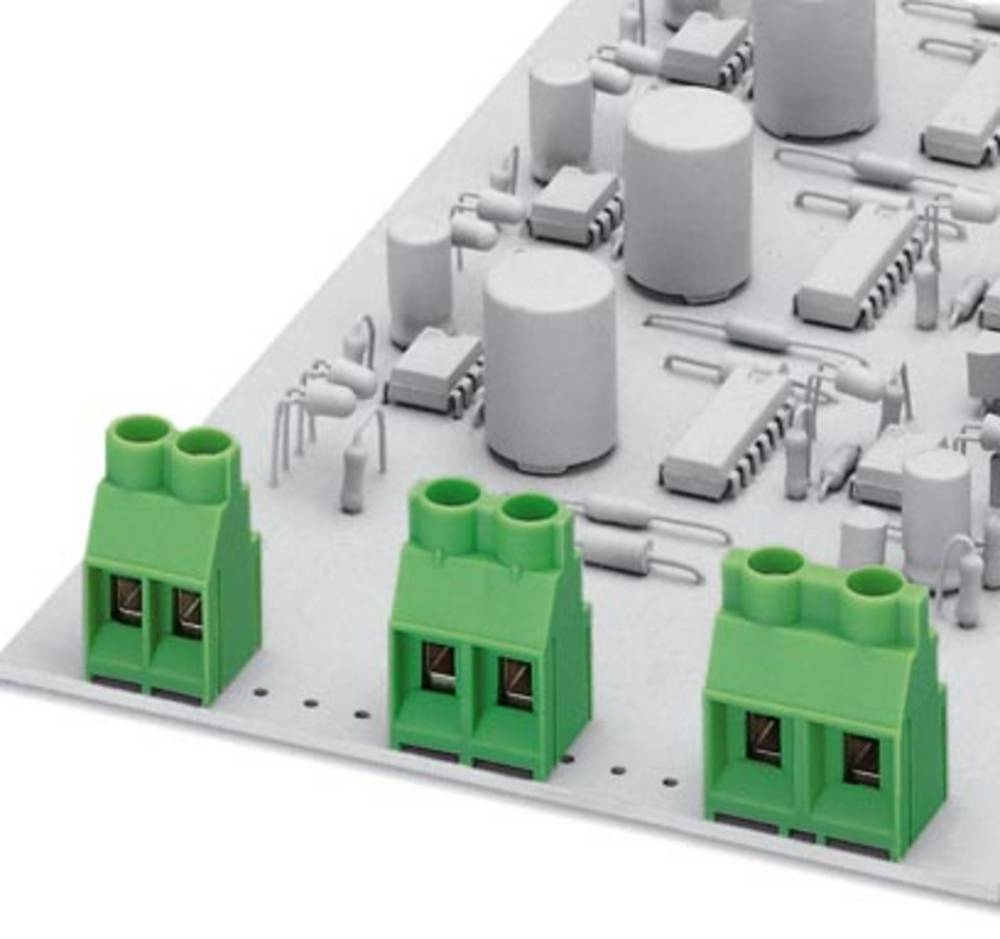 Skrueklemmeblok Phoenix Contact MKDS 5/ 2-6,35 BEIGE Z1L 4.00 mm² Poltal 2 Grå 50 stk