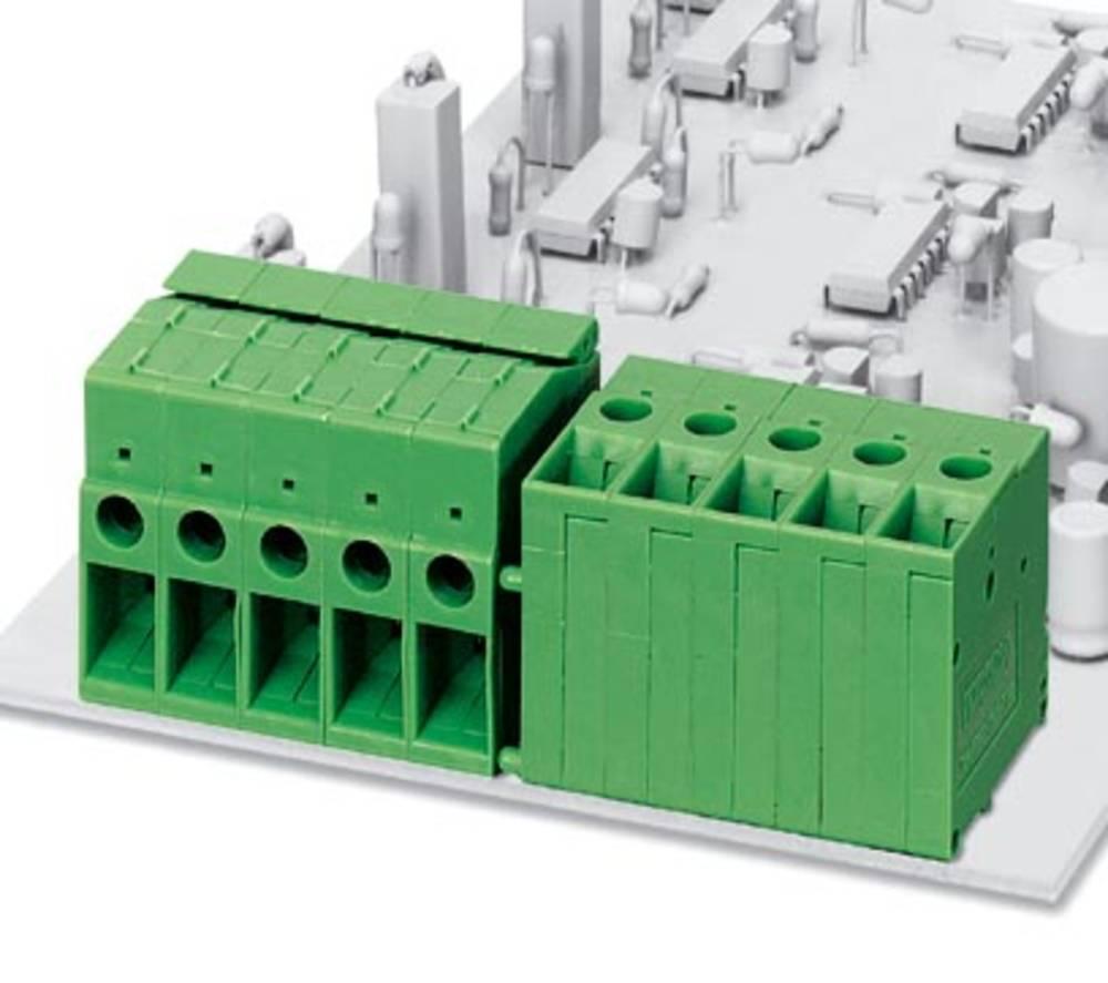 Skrueklemmeblok Phoenix Contact FRONT 4-H-6,35 6.00 mm² Poltal 1 Grøn 50 stk