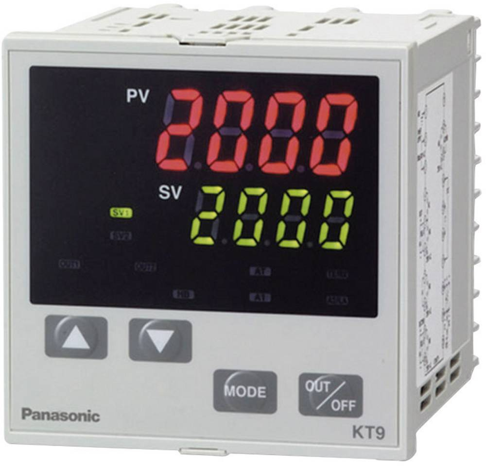 PID regulator temperature Panasonic AKT9111100J K, J, R, S, B, E, T, N, PL-II, C, Pt100, Pt100 -200 do +1820 °C relej 3 A (D x Š
