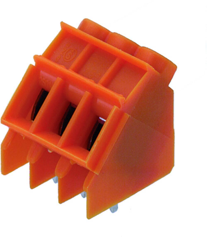 Skrueklemmeblok Weidmüller LP5.00/4/135 3.2 OR 4.00 mm² Poltal 4 Orange 50 stk