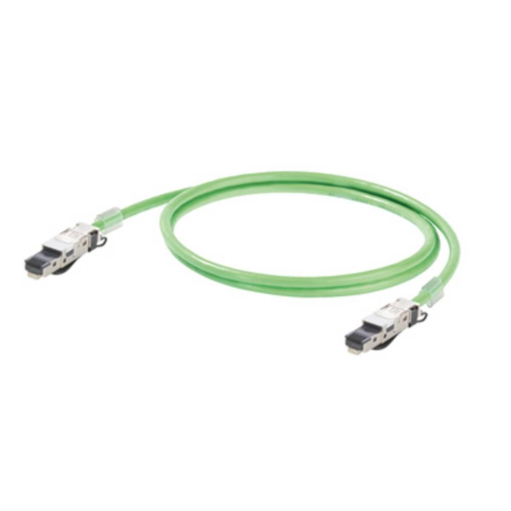RJ45 omrežni priključni kabel CAT 5, CAT 5e SF/UTP [1x RJ45-vtič - 1x RJ45-vtič] 1 m zelen negorljiv