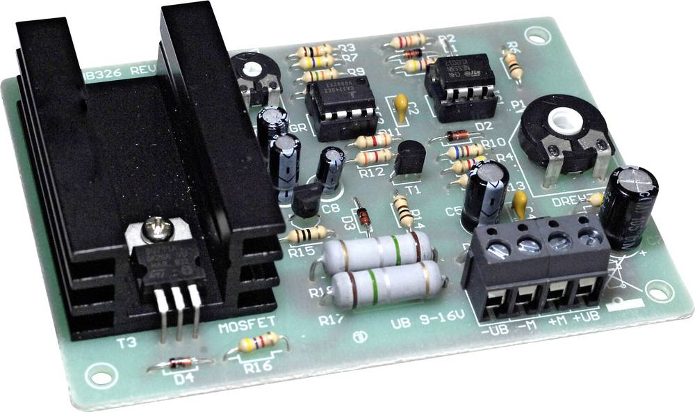 Modul od 5 A za namještanje broja okretaja za istosmjerne motore 196460 Conrad 9 - 16 V/DC Komplet za sastavljanje