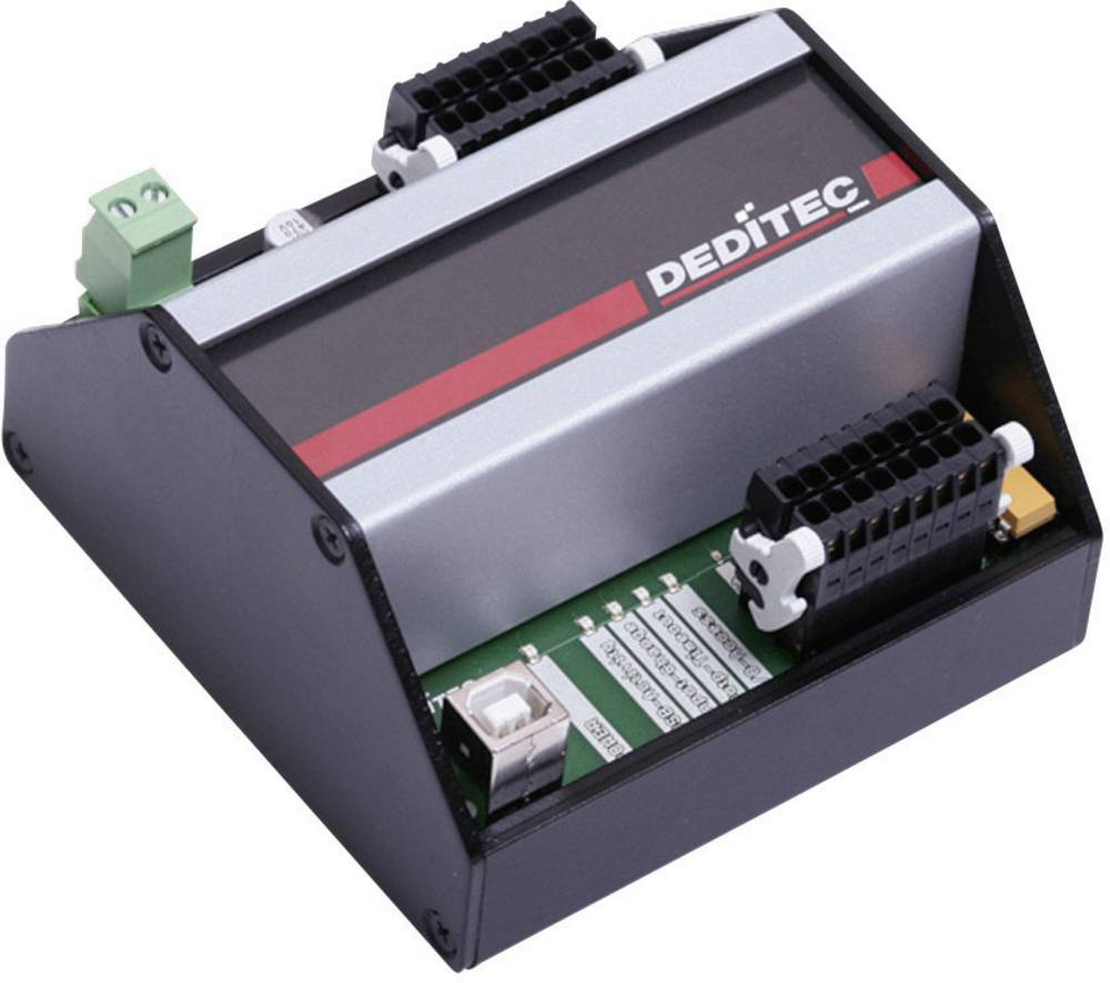Deditec USB-USB modul za DIN-letvu, USB sučelje, optični ulazi 8, izlazi 8 USB-OPTO-RELAIS-8