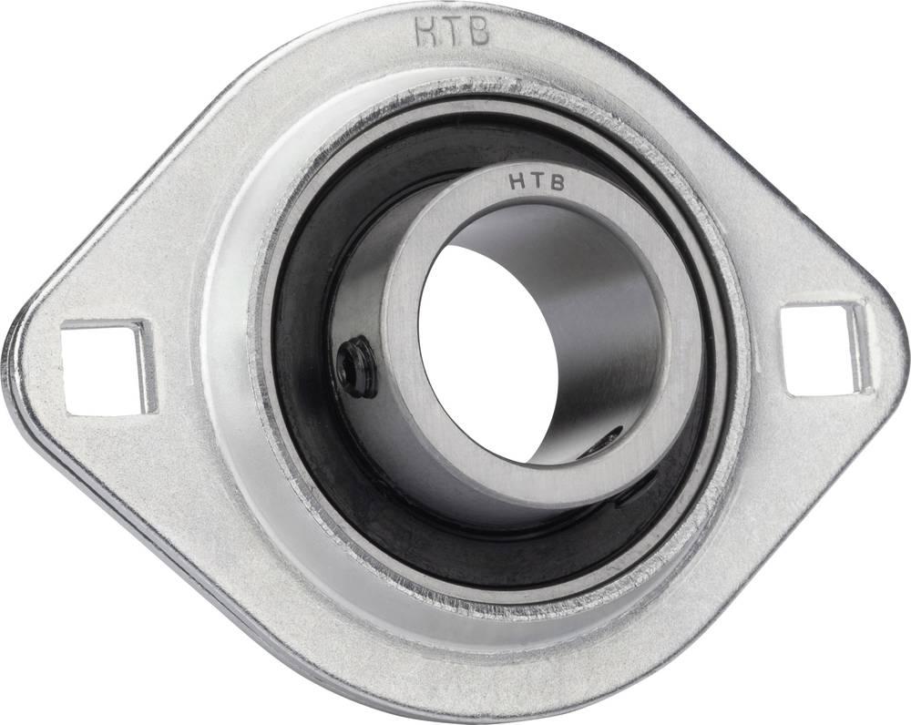 Prirobnični ležaj UBC BearingSBPFL, ohišje iz jekl. pločevine, O: 15 mm, 7.500 N, 4.550 N