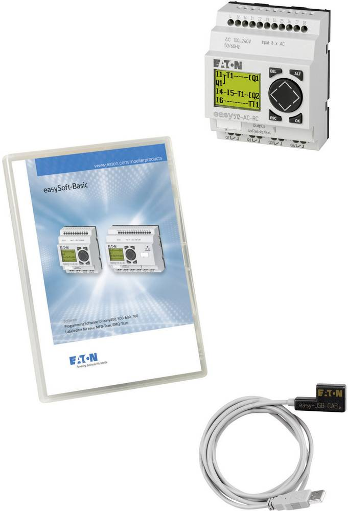 SPS-začetni komplet Eaton easy-MINI-Box-USB AC 116562 115 V/AC, 230 V/AC