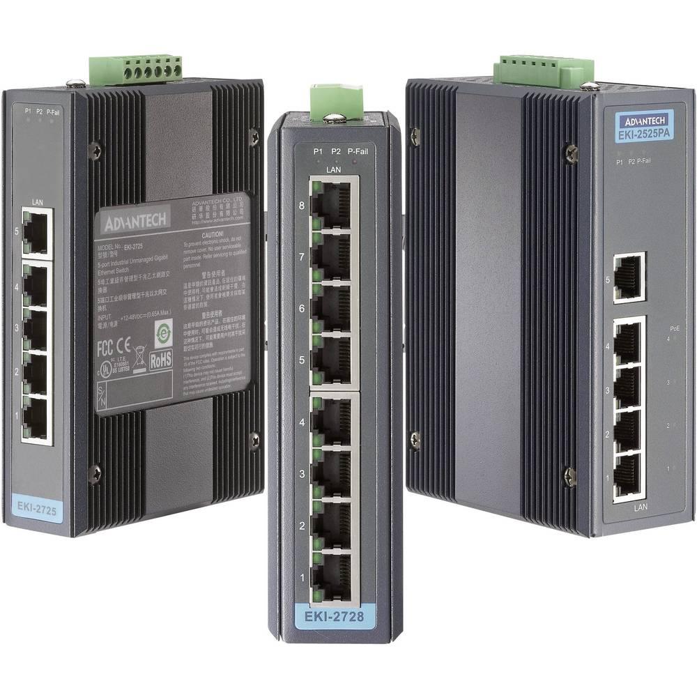 Vmesnik Advantech EKI-2728-AE,8 Port Industrial Unmanaged GbE Switch, 12-48 V/DC