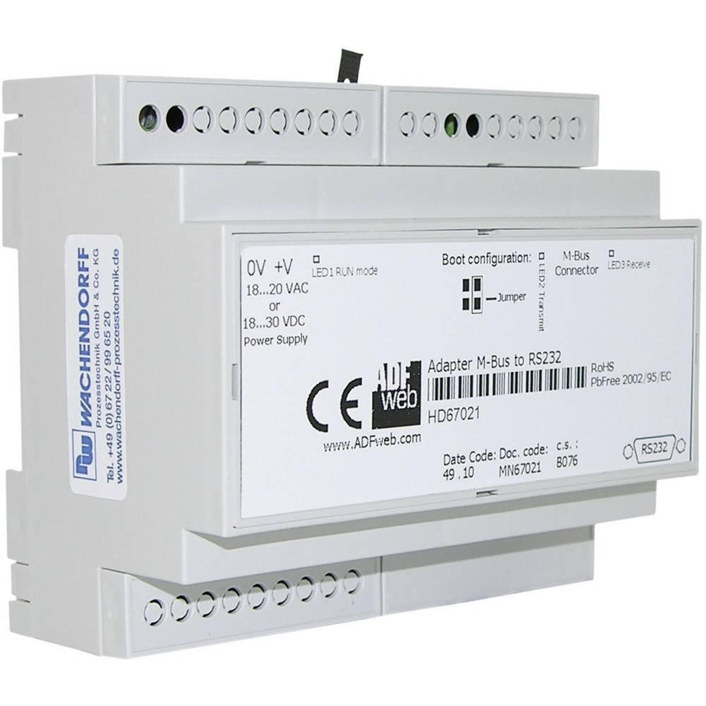 Pretvornik nivojev M-Bus, RS-232, Ethernet Wachendorff HD67030 24 V/DC