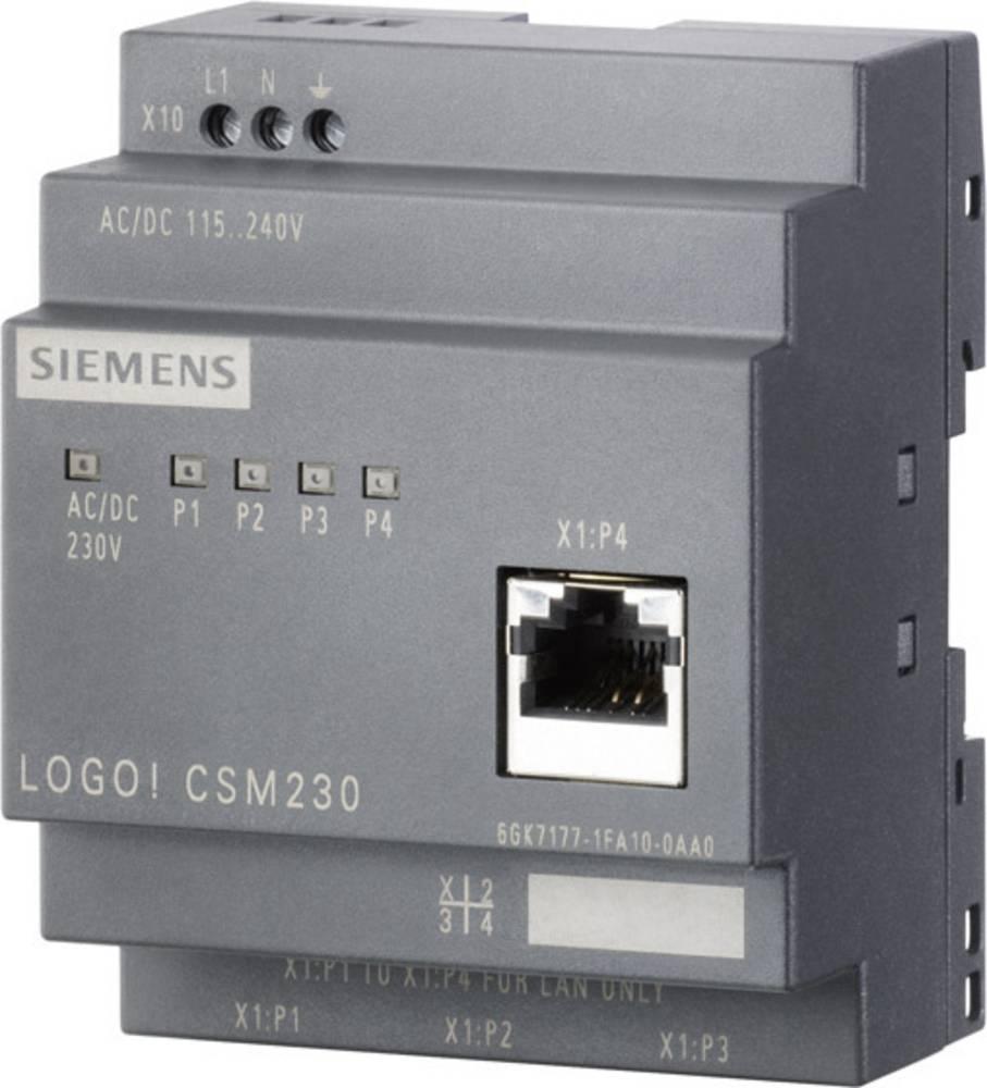 Kompaktno stikalo Siemens LOGO! CSM, brez upravljanja 6GK7177-1FA10-0AA0, 230 V/AC, št. vrat: 4