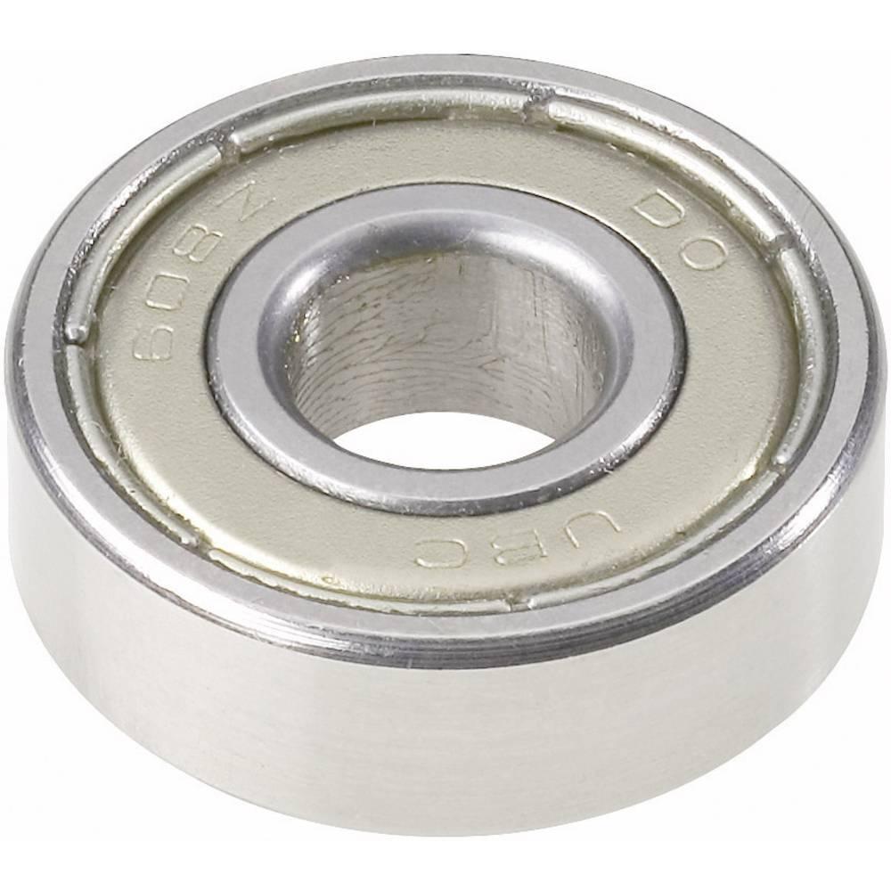 Žljebasto-kuglični ležaj 608 2RS UBC Bearing, O rupe: 8 mm, vanjski O: 22 mm