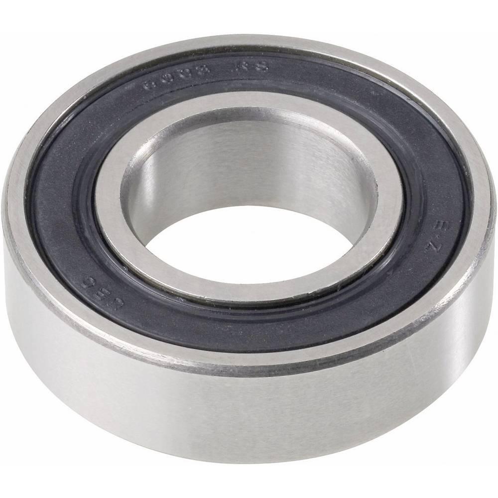 Žlebasto-kroglični ležaj iz nerjavečega jekla UBC Bearing S6203 2RS, premer: 17 mm, 40 mm