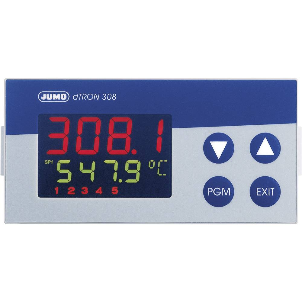 JUMO dTRON tcrveniočkovni kontroler 110 - 240 V/AC veličina92 x 45 mm dubina 90 mm 703042