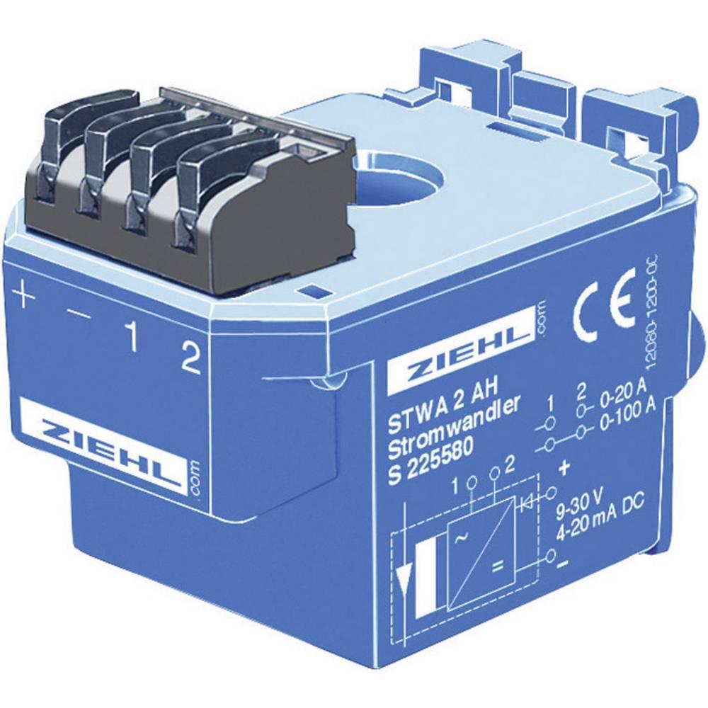 Strujni transformator Ziehl, 9-30 V/DC, mjerilni ulazi: 0-20/100 A, izlazi: 4-20 mA/DC