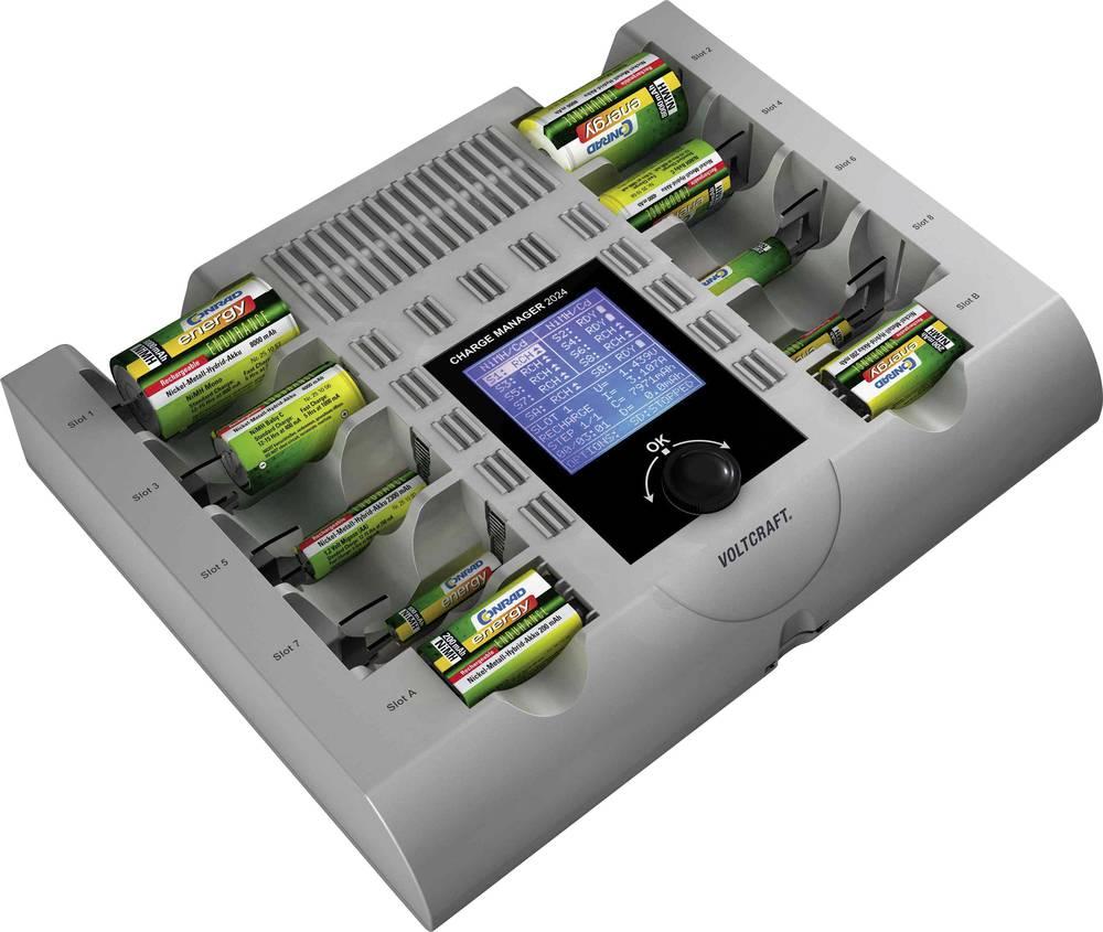 Polnilna naprava za okrogle baterije NiCd, NiMH, NiZn VOLTCRAFT Charge Manager CM2024 Micro (AAA), Mignon (AA), Baby (C), Mono (