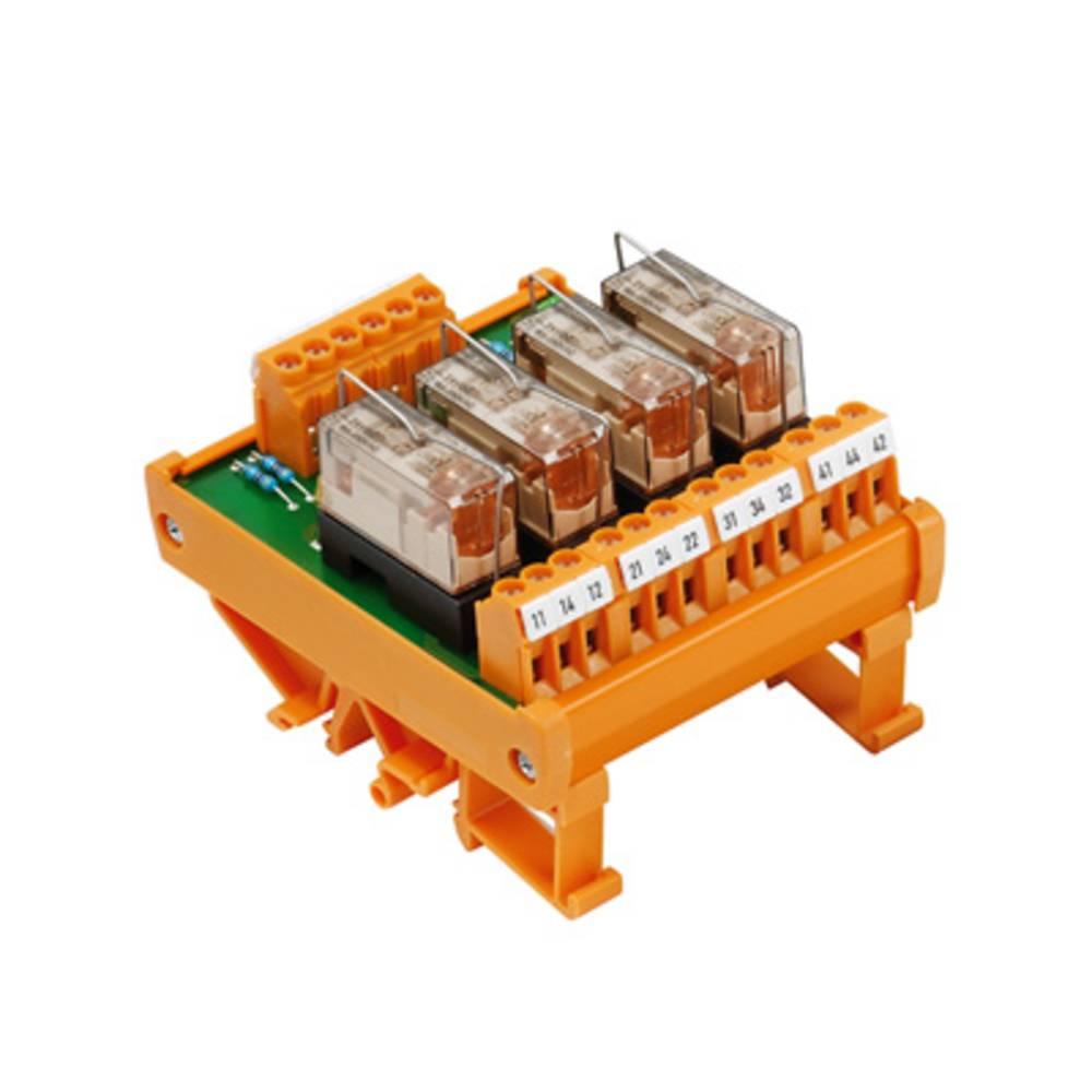 Tiskano vezje za rele, opremljeno 1 kos Weidmüller RSM 4R 24VDC LP GEM.- 1 x preklopni 24 V/DC