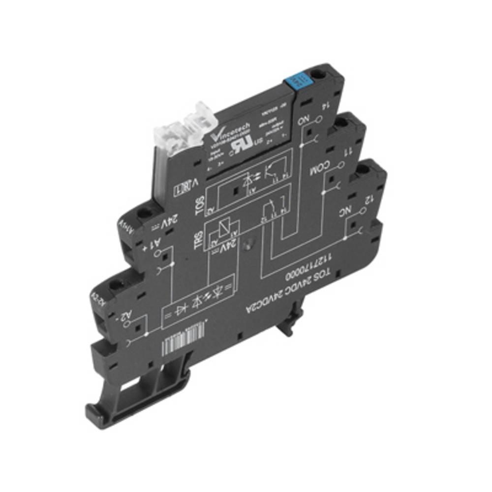 Halvlederrelæ 10 stk Weidmüller TOS 24VDC 230VAC1A Last-Strøm (maks.): 1 A Koblingsspænding (max.): 250 V/AC