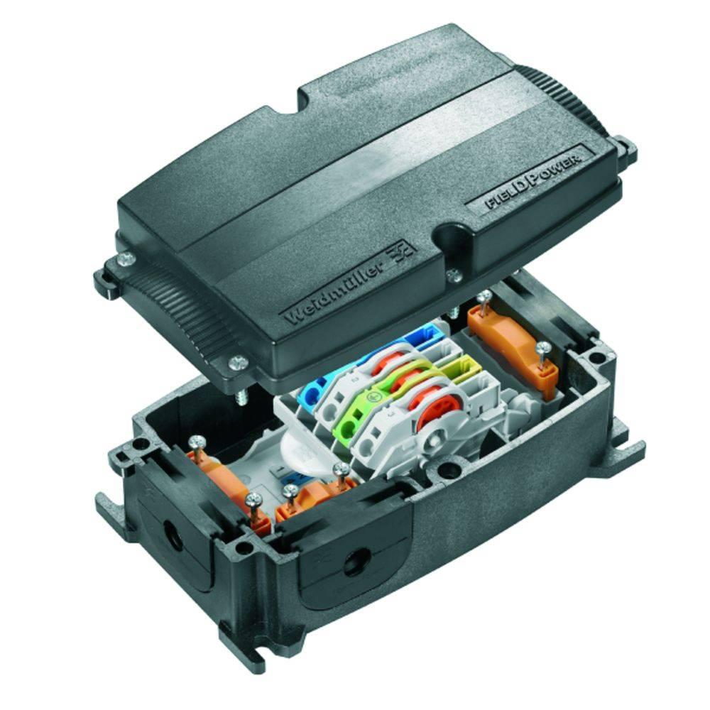 Razdelilna škatla , prilagodljiva: 0.5-6 mm toga: 0.5-6 mm Weidmüller FP BOX MPB 1 kos črna