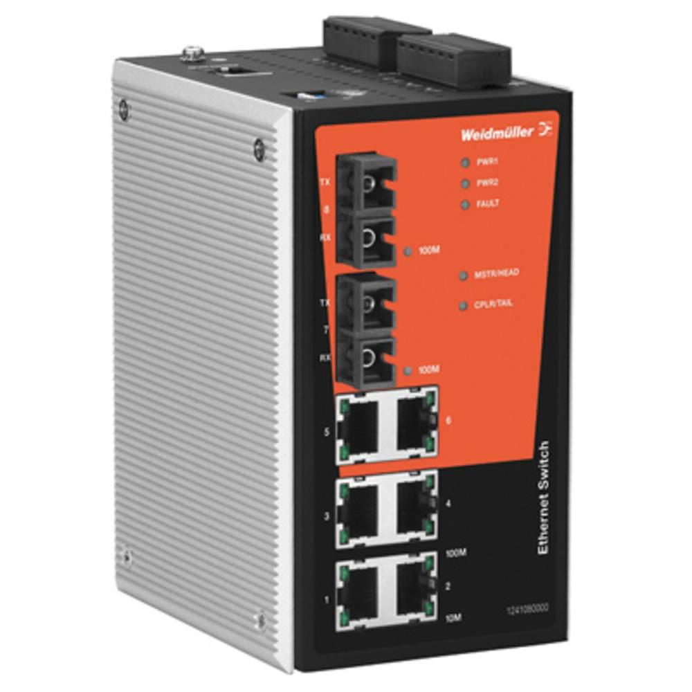 Omrežno stikalo, upravljalno Weidmüller IE-SW-PL08M-6TX-2ST število Ethernet vrat 6
