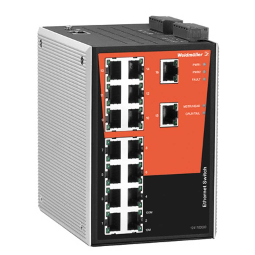 Omrežno stikalo, upravljalno Weidmüller IE-SW-PL16M-16TX število Ethernet vrat 16