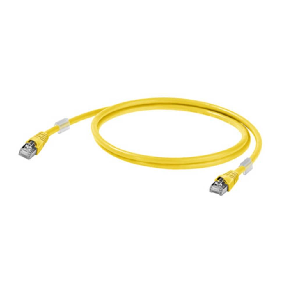 RJ45 omrežni priključni kabel CAT 6A S/FTP [1x RJ45-vtič - 1x RJ45-vtič] 1.50 m rumen z UL-certifikatom Weidmüller