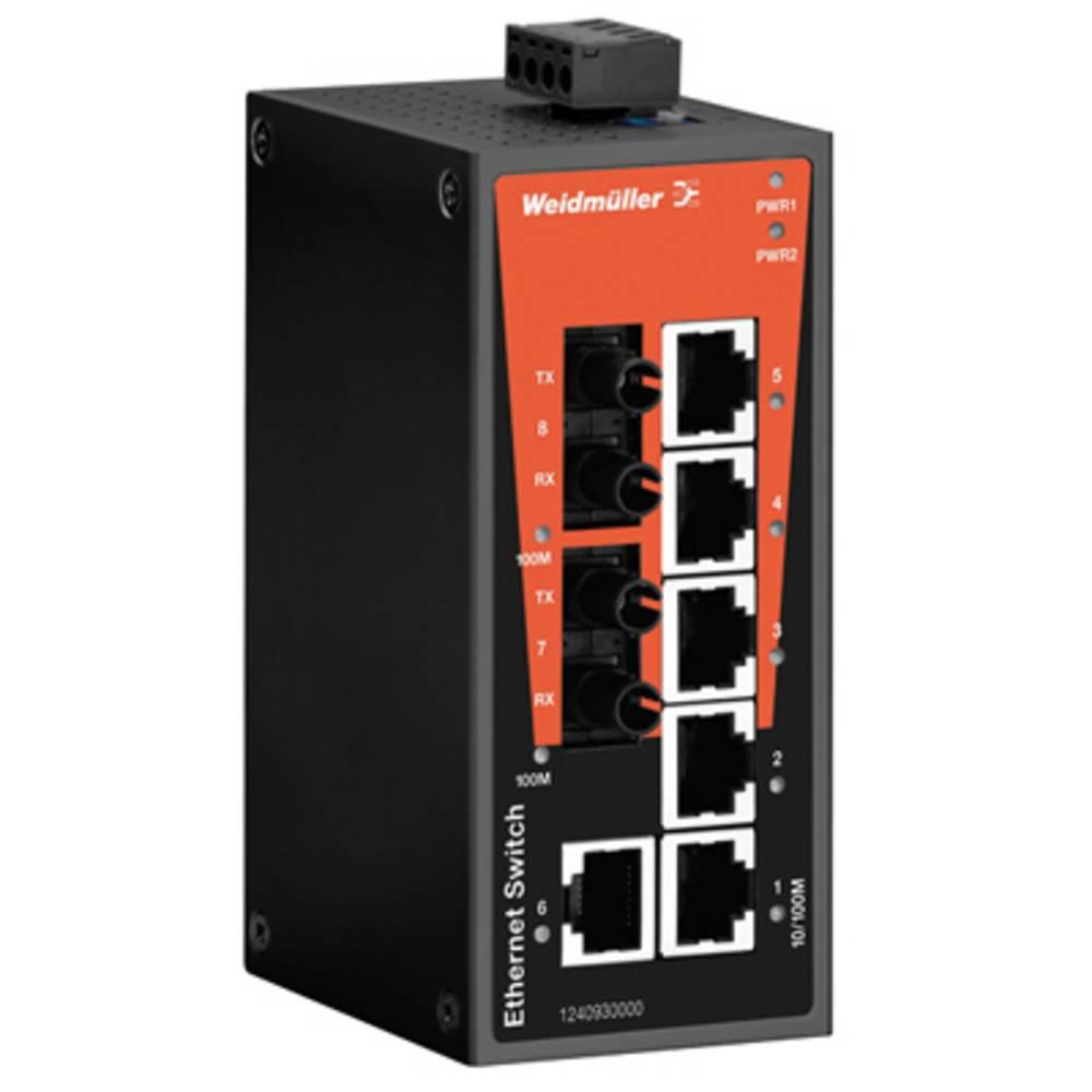 Omrežno stikalo, neupravljalno Weidmüller IE-SW-BL08-6TX-2ST število Ethernet vrat 6
