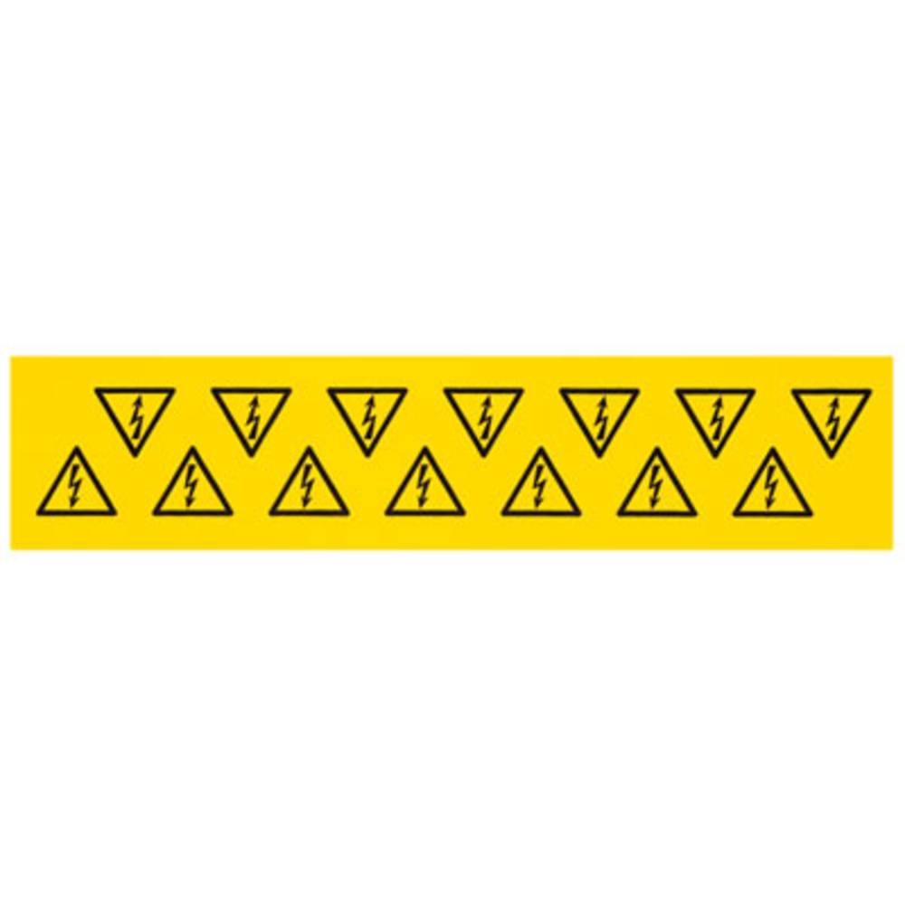 Kabelmarkier etiket Weidmüller MARKO-C. 25X25X25 B/DR. (1700530001) (L x B x H) 25 x 25 x 25 mm Gul 10 stk