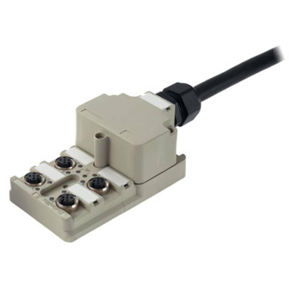 Sensor/aktorbox passiv M12-fordeler med metalgevind SAI-4-M 5P M12 1701230000 Weidmüller 1 stk