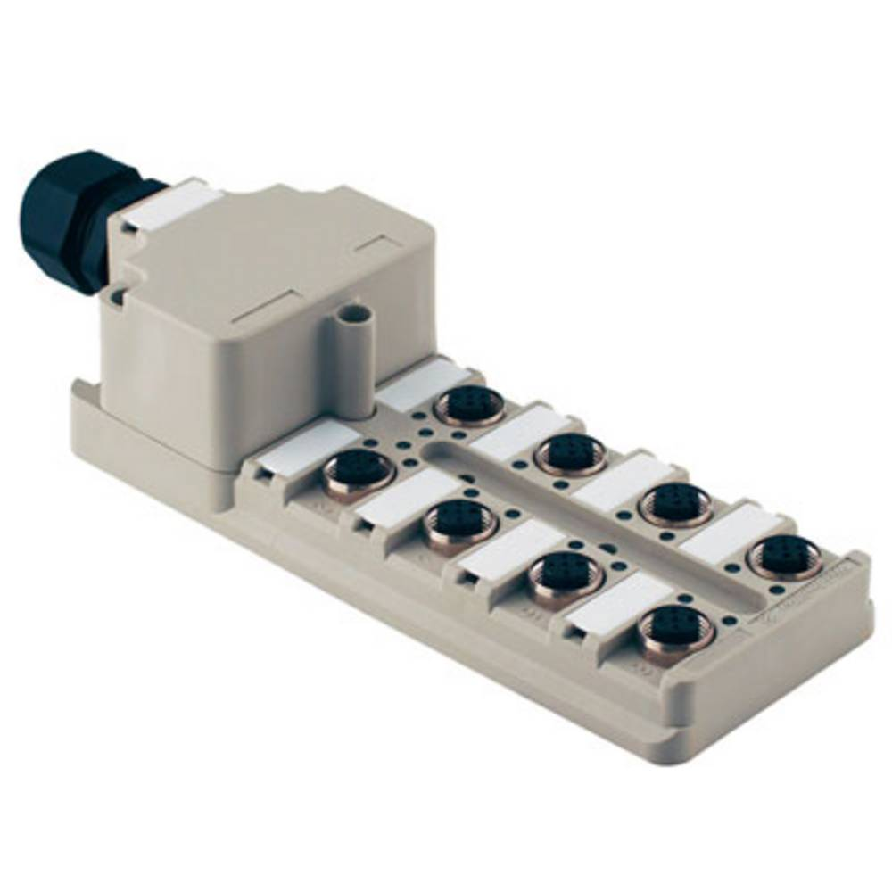 Sensor/aktorbox passiv M12-fordeler med metalgevind SAI-8-M 5P M12 ZF III 1767880000 Weidmüller 1 stk