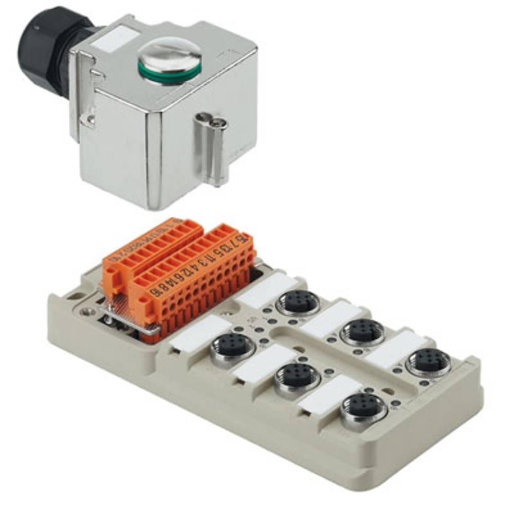 Sensor/aktorbox passiv M12-fordeler med metalgevind SAI-6-MH-4P M12 1705932000 Weidmüller 1 stk
